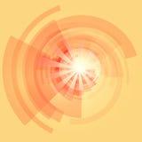 太阳镶有钻石的旭日形首饰的背景传染媒介例证 库存照片