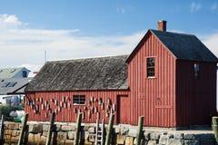 太阳阐明著名红色渔棚子主题第1 图库摄影