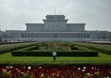 太阳陵墓的Kumsusan宫殿在平壤,北朝鲜 免版税库存图片
