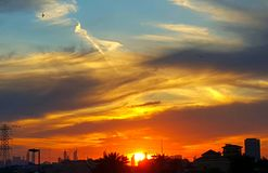 太阳集合 库存照片