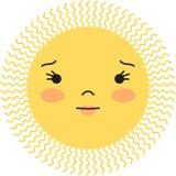 太阳面对 库存图片