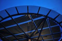 太阳面板的次幂 免版税库存照片