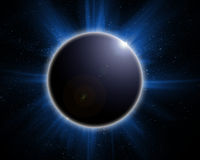 太阳黑色的蚀 图库摄影