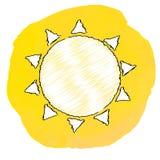 太阳,传染媒介例证 库存照片