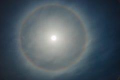 太阳,彩虹,云彩 免版税图库摄影