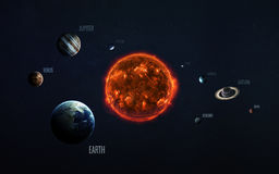 太阳系和空间对象 美国航空航天局装备的这个图象的元素 图库摄影
