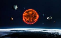 太阳系和空间对象 美国航空航天局装备的这个图象的元素 免版税库存图片