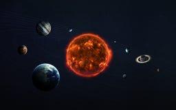 太阳系和空间对象 美国航空航天局装备的这个图象的元素 免版税库存照片