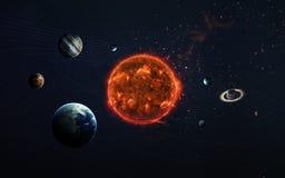 太阳系和空间对象 美国航空航天局装备的这个图象的元素 库存照片