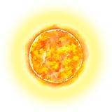 太阳系-太阳 额嘴装饰飞行例证图象其纸部分燕子水彩 免版税库存照片