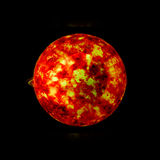 太阳系的太阳的行星和星是严厉的 库存照片