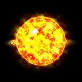 太阳系的太阳的行星和星是严厉的 免版税库存图片