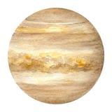 太阳系行星-金星 额嘴装饰飞行例证图象其纸部分燕子水彩 库存图片