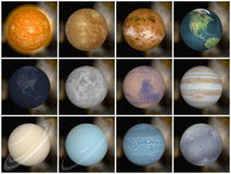 太阳系行星- 3D回报 免版税库存照片