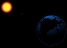 太阳水银金星地球向量空间背景美国航空航天局装备的这个图象的有些元素 图库摄影