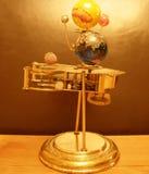 太阳系仪Steampunk艺术时钟和platent 库存照片