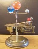 太阳系仪Steampunk艺术时钟 免版税库存图片