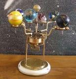 太阳系仪Steampunk艺术时钟 库存照片