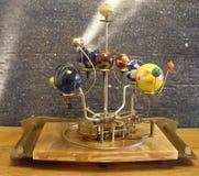 太阳系仪Steampunk艺术时钟 库存图片