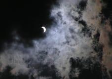 太阳70蚀的阶段 免版税库存图片