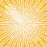 太阳射线抽象背景。 库存照片