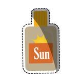 太阳bronzer瓶 皇族释放例证