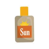 太阳bronzer瓶 库存例证