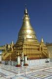 太阳U Ponya净土真宗教派塔,缅甸 图库摄影