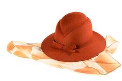 夫人'帽子和围巾 图库摄影