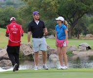 夫人前高尔夫球运动员埃玛Cambrera贝约前和前普罗梯亚木C 库存照片