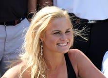 夫人前高尔夫球运动员Carly摊2015年11月在南非 免版税图库摄影
