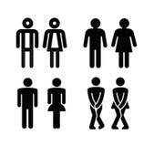 夫人和人洗手间标志 库存例证