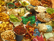 夫人在市场上在马来西亚 图库摄影