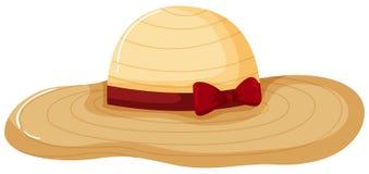 夫人在白色背景的Fashion Hat 库存图片