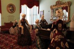 夫人在赌博屋子里一起聚集了, 2014年 免版税库存图片