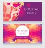 夫人夜党的模板与美丽的女孩饮用的玛格丽塔酒 库存照片