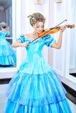 夫人小提琴 库存图片