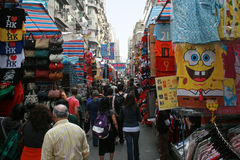 夫人市场-一个街市在香港 库存图片