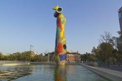 夫人我Ocell Joan Miro 免版税库存照片