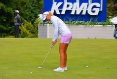 夫人职业高尔夫球运动员安娜Nordqvist毕马威妇女的PGA冠军2016年 图库摄影