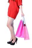 夫人行程性感的购物 图库摄影