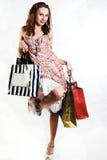 夫人购物 图库摄影