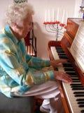 夫人钢琴 库存图片