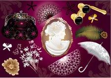 夫人集合向量维多利亚女王时代的著&# 免版税库存照片