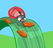 夫人鸟巧克力绿色蚜虫 免版税库存照片