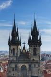夫人Before Tyn,布拉格的教会 库存图片