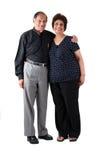 夫妇东部年长印地安人 库存照片