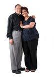 夫妇东部年长印地安人 免版税库存图片