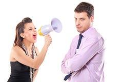 夫妇争吵的年轻人 库存图片