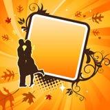 夫妇亲吻的向量 免版税图库摄影